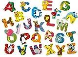 JINTORA - Carta de Madera - M - para niños y bebés: Motivo de los Animales para la guardería, la Escuela, la guardería, para Jugar, hazlo tú Mismo y coleccionables