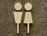 CHENGYIDA Letrero de madera para inodoro hecho a mano con texto en inglés 'Graceful House'