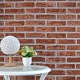 Yubingqin 10m Decoración para el hogar 3D PVC de Madera de Grano de Grano de Grano Papel Ladrillo Pintura Papel Pintado Efecto rústico Autoadhesivo Decoración para el hogar Calcomanía