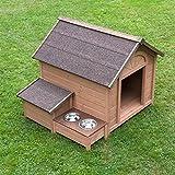 comfort perro Gesto de caseta techo Elevador de alimentación zona de madera para jardín exterior Caja de almacenamiento