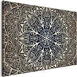 murando Cuadro en Lienzo Mandala 120x80 cm 1 Parte Impresión en Material Tejido no Tejido Impresión Artística Imagen Gráfica Decoracion de Pared Orient Zen SPA f-A-0637-b-b