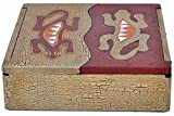 Caja de ligero Albesia-madera, pintado a mano, Gecko o de sol y luna, diseño: - Gecko