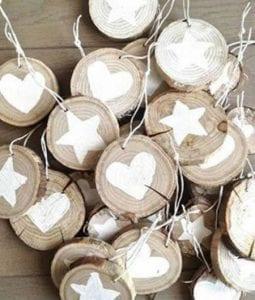 adornos de madera navideños