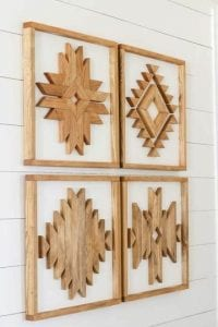 adornos de madera para paredes