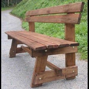 bancos de madera para jardines