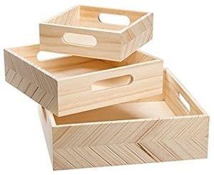 bandejas de madera