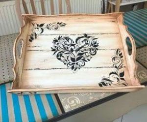 bandejas de madera decoradas