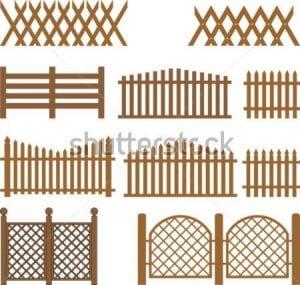 barandal de madera para jardin