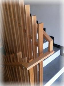 barandillas de madera modernas