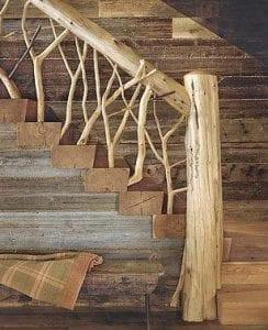 barandillas de madera rusticas