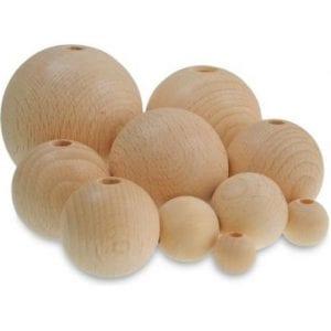 bolitas de madera