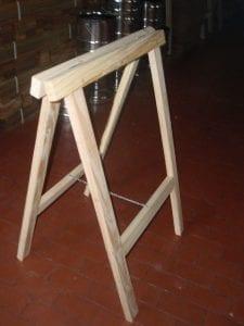 borriquetas de madera