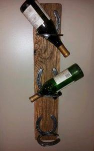 botelleros rusticos de madera