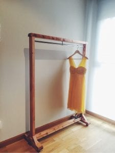 burros de madera para ropa