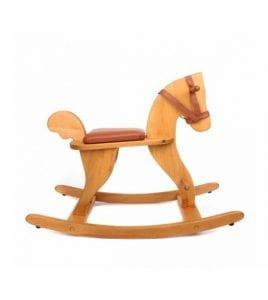 caballos balancin de madera