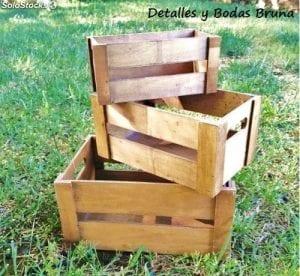 cajas de madera baratas
