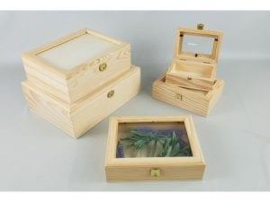 cajas de madera con tapa de…