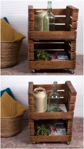 cajas de madera de fruta recicladas