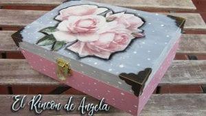 cajas de madera en decoupage