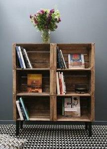 cajas de madera muebles