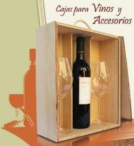 cajas de madera para botellas de…