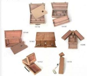 cajas de pinturas de madera