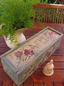 cajas de vino de madera decoradas