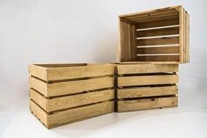 cajas grandes de madera