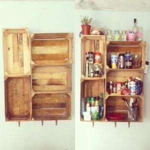 cajas recicladas de madera