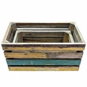 cajas vintage de madera