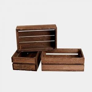 cajas y cajones de madera