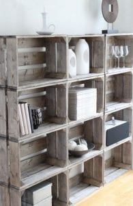 cajones de madera reciclados