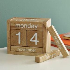 calendarios de madera
