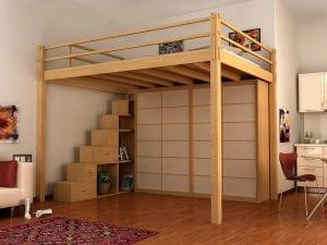 camas de madera altas