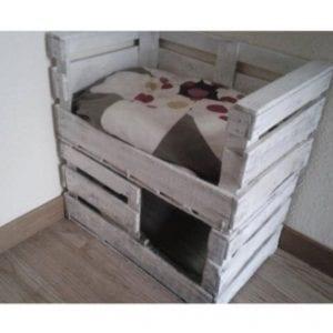 camas para gatos de madera