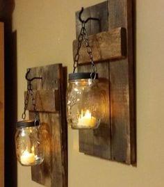 candeleros de madera