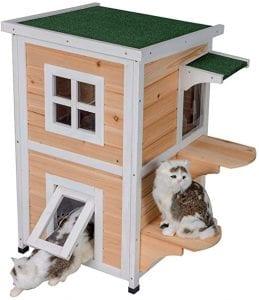 casetas de madera para gatos