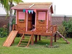 casetas de madera para niños jardin