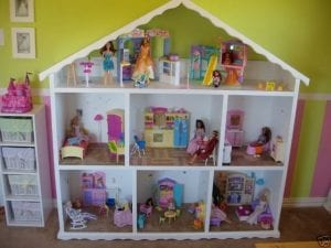 casitas barbie de madera