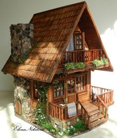 casitas de madera en miniatura