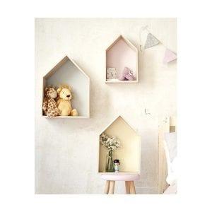 casitas de madera estanterias