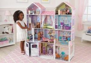 casitas de muñecas de madera baratas
