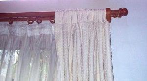 cortinas para barra de madera