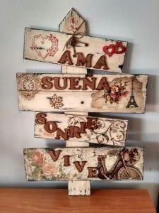 cuadros vintage de madera