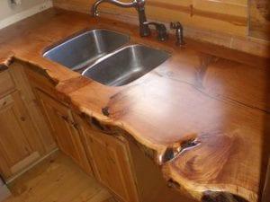 encimeras de madera rustica