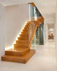 escaleras modernas de madera