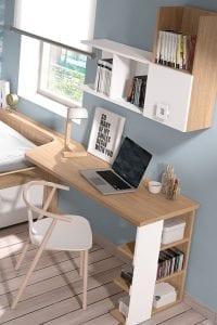 escritorios de madera modernos juveniles