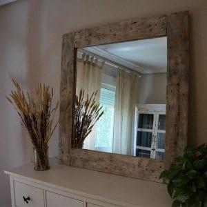 Espejos Rústicos de Madera