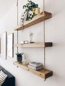 estanterias de madera de pared