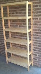 estanterias de madera de pino